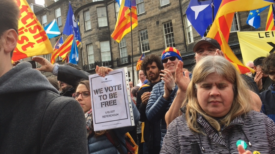 National demonstration (Edinburgh) in support of Catalunya's right to vote