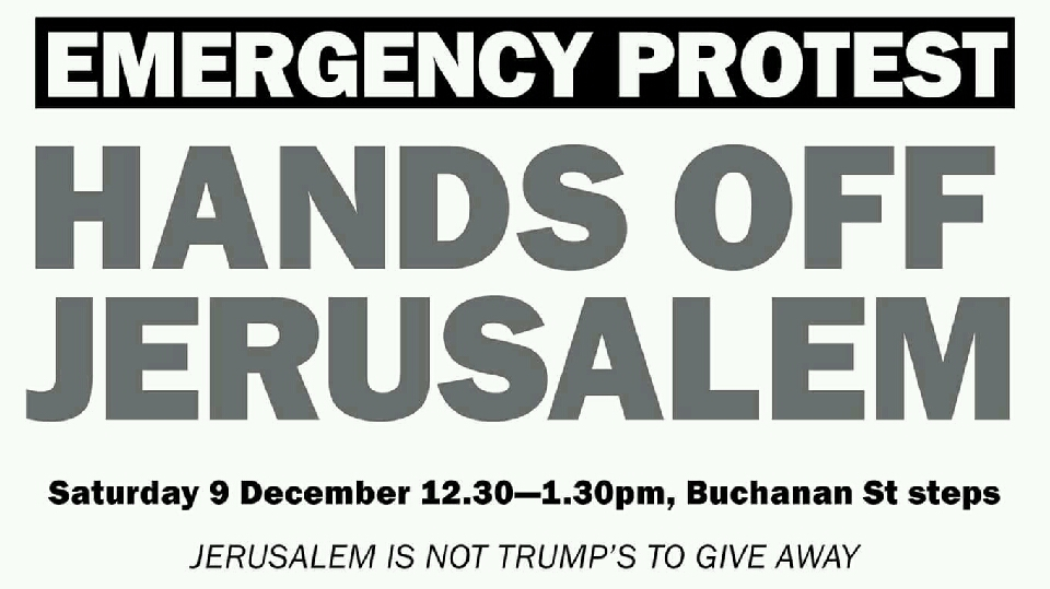 Hands Off Jerusalem Emergency Protest