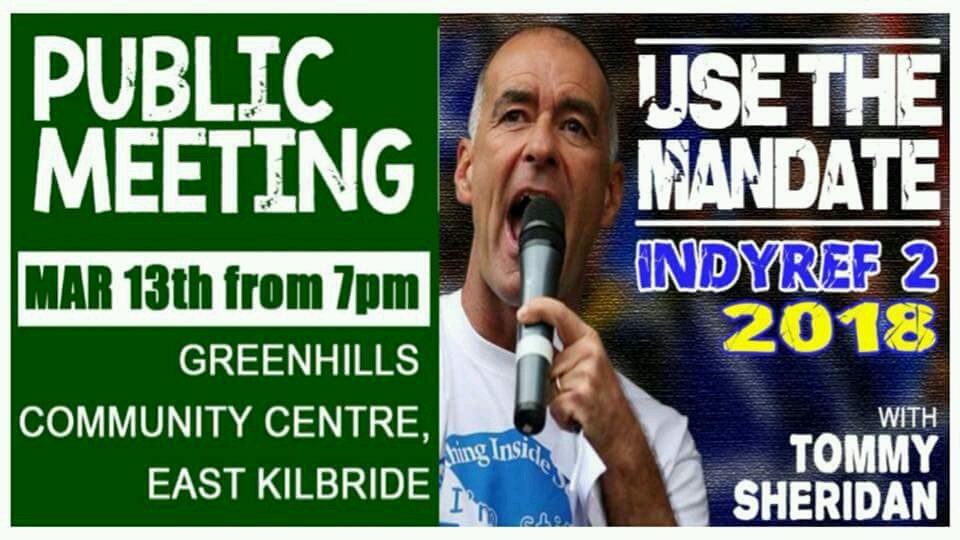 Use the Mandate IndyRef 2 2018 with Tommy Sheridan