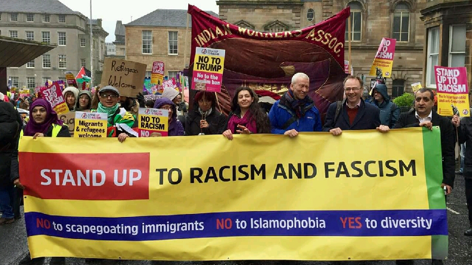 Glasgow March Against Racism Rally