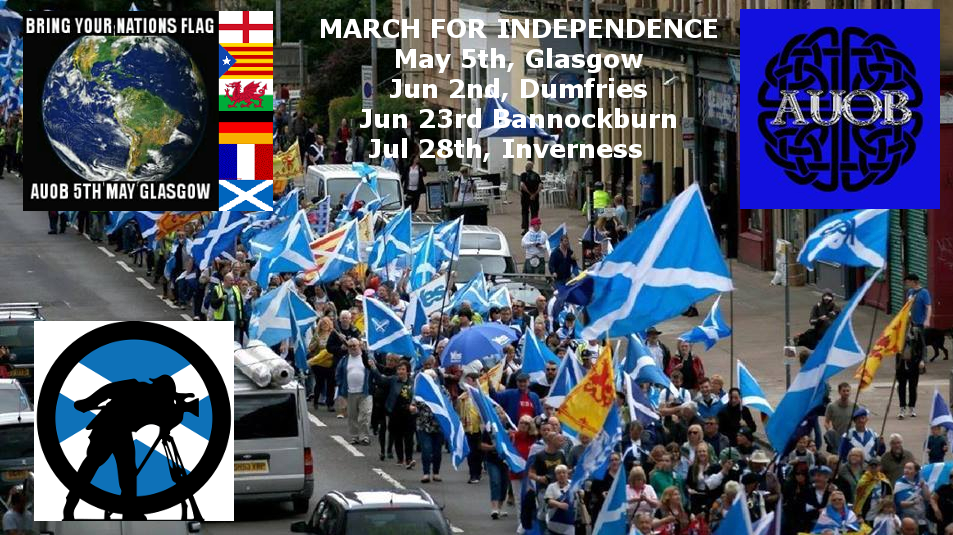 March for Indy - Dumfries. Cam1 - Front of march coverage.
