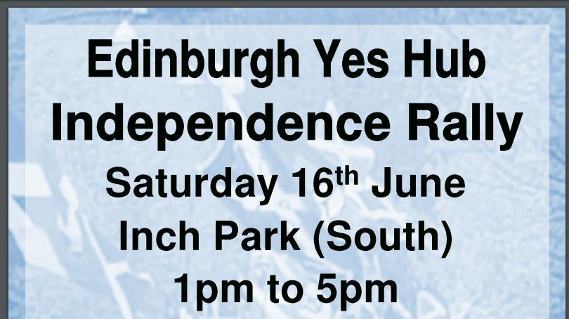 Edinburgh Yes Hub Independence Rally at Inch Park