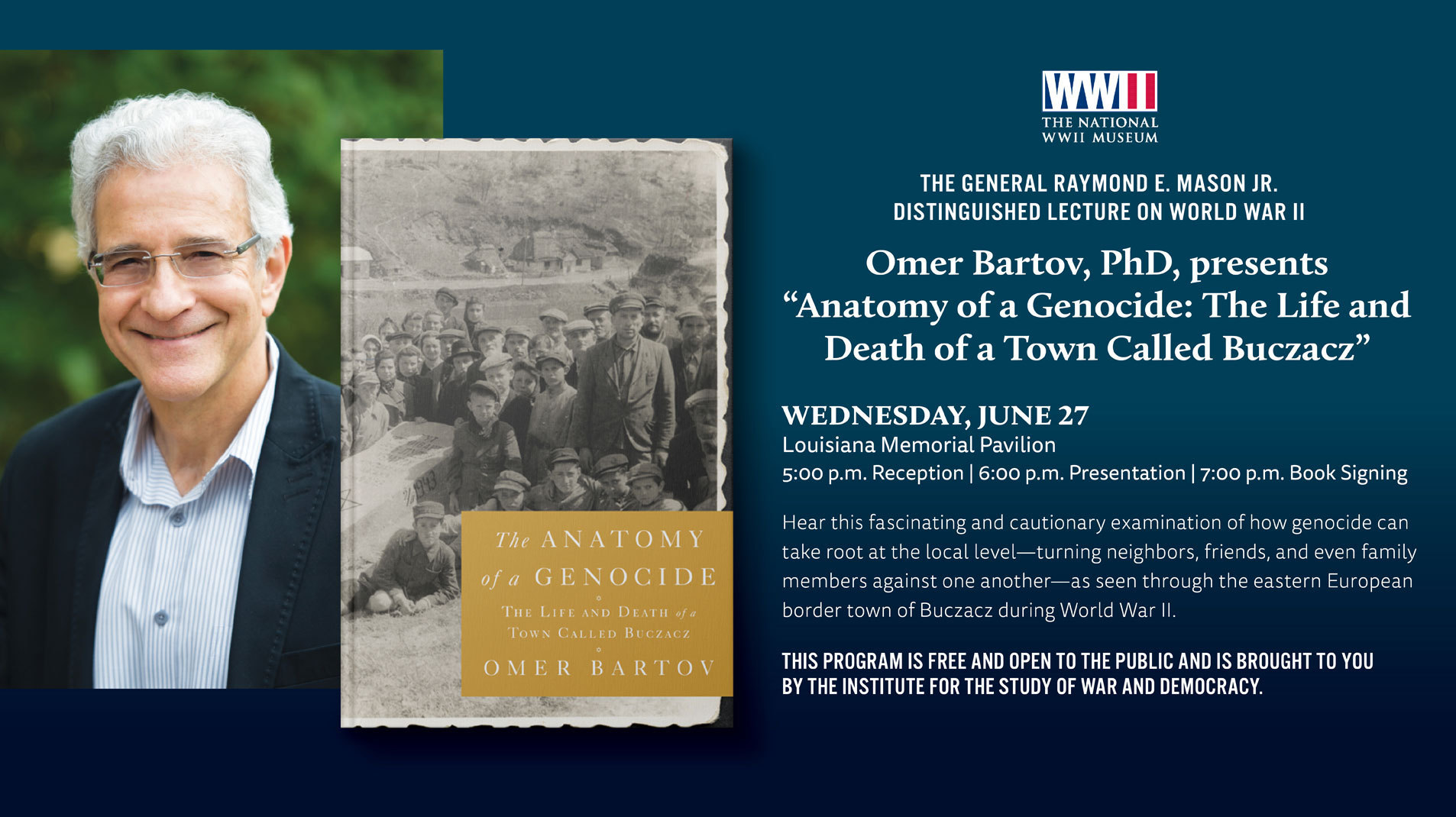Omer Bartov, PhD, presents Anatomy of a Genocide: The Life and Death ...
