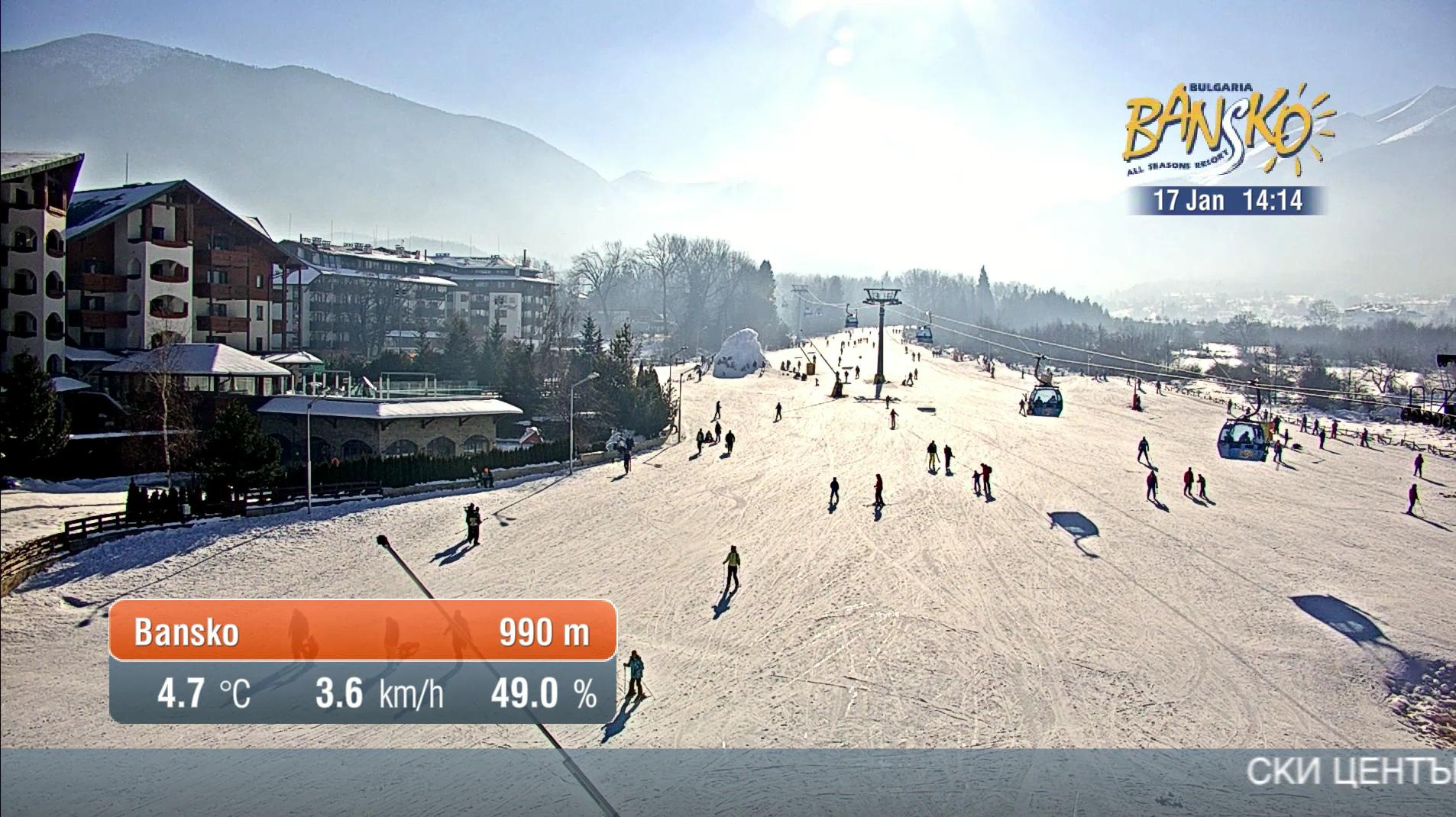 Bansko Ski Zone Panorama Cameras On Livestream