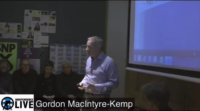 Gordon MacIntyre-Kemp At the SNP Club Edinburgh