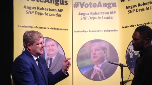 Angus Robertson launches campaign for SNP Depute