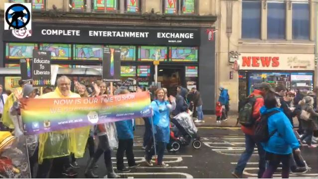 TIE Bloc Glasgow Pride Parade
