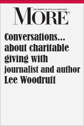 Conversations...about charitable giving with journalist and author Lee Woodruff