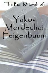 Yakov Mordechai's Bar Mitzvah