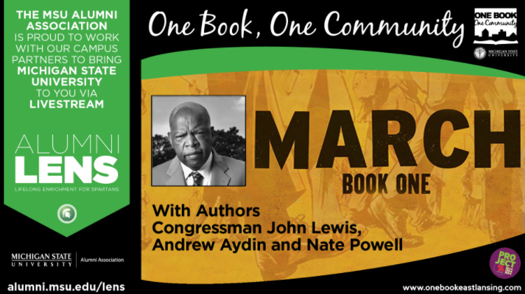livestream cover image for March: Book One  |   A One Book, One Community Event
