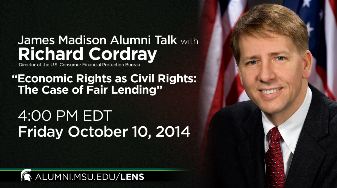 livestream cover image for James Madison Alumni Talk | Richard Cordray