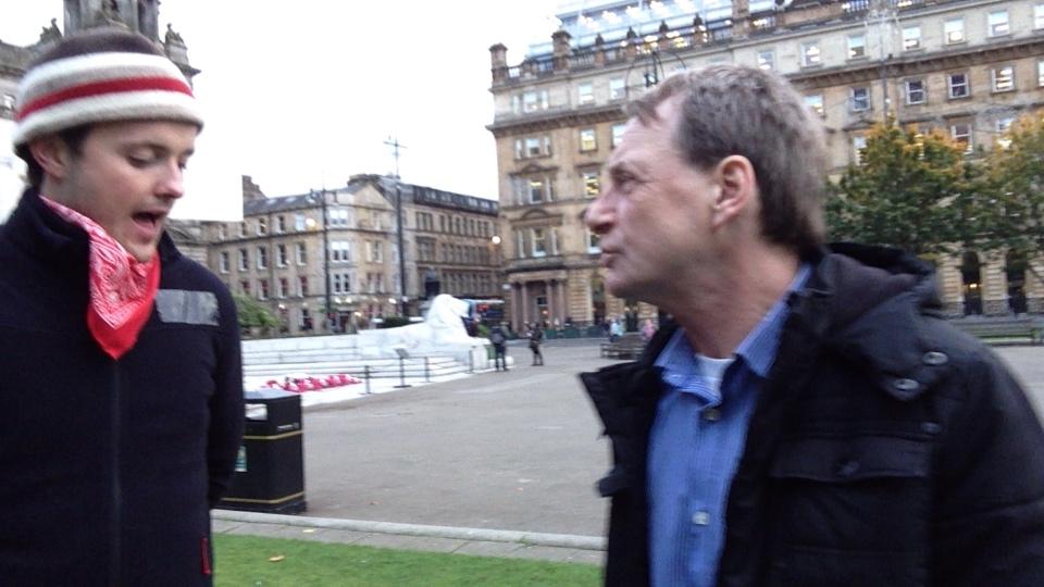 Day 2/7 - Glasgow's Needy - occupy George Square