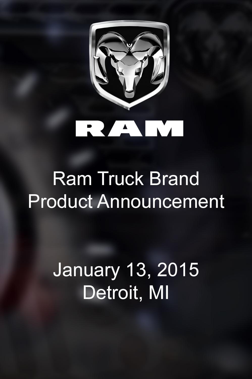 Ram Truck Brand Product Announcement On Livestream