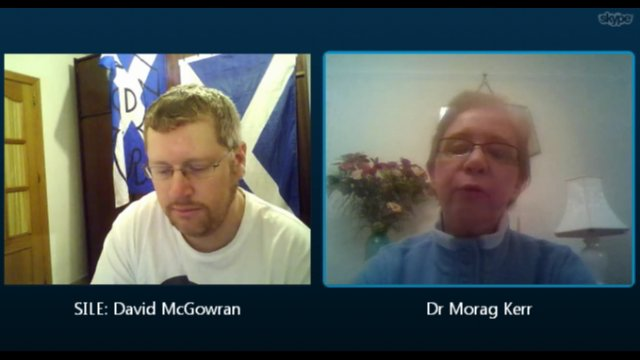 Skype Conversation with Dr Morag Kerr