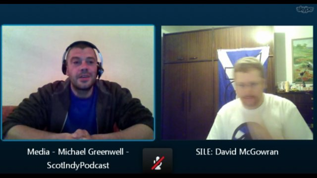 Skype chat with Michael Greenwell from Scottish Independence Podcast