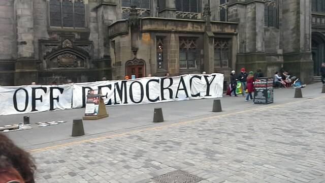 Edinburgh stop TTIP banner