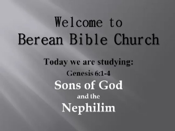 Sons of God and the Nephilim on Livestream