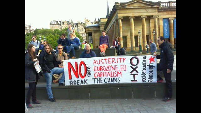 OXI! #ThisIsACoup - Edinburgh Demo