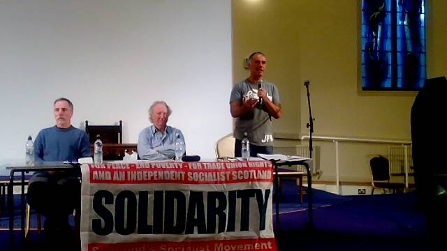 Solidarity meeting in Kirkcaldy