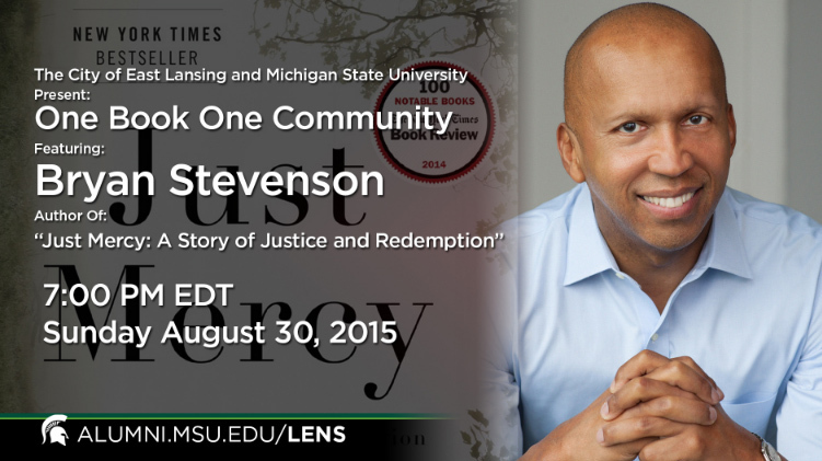 livestream cover image for Bryan Stevenson | One Book, One Community