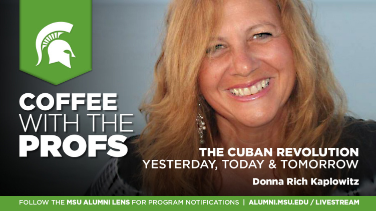 livestream cover image for Donna Rich Kaplowitz | The Cuban Revolution: Yesterday, Today and Tomorrow