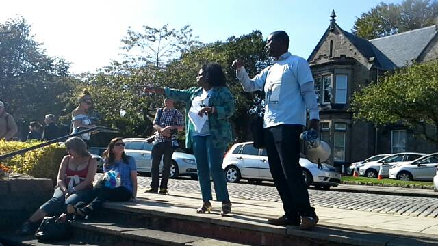 Sheku Bayoh march in Kirkcaldy