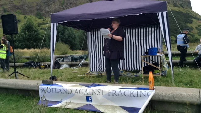 Rally calling for a total ban on Fracking and UCG
