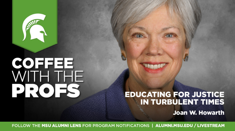 livestream cover image for Joan W. Howarth | Educating for Justice in Turbulent Times