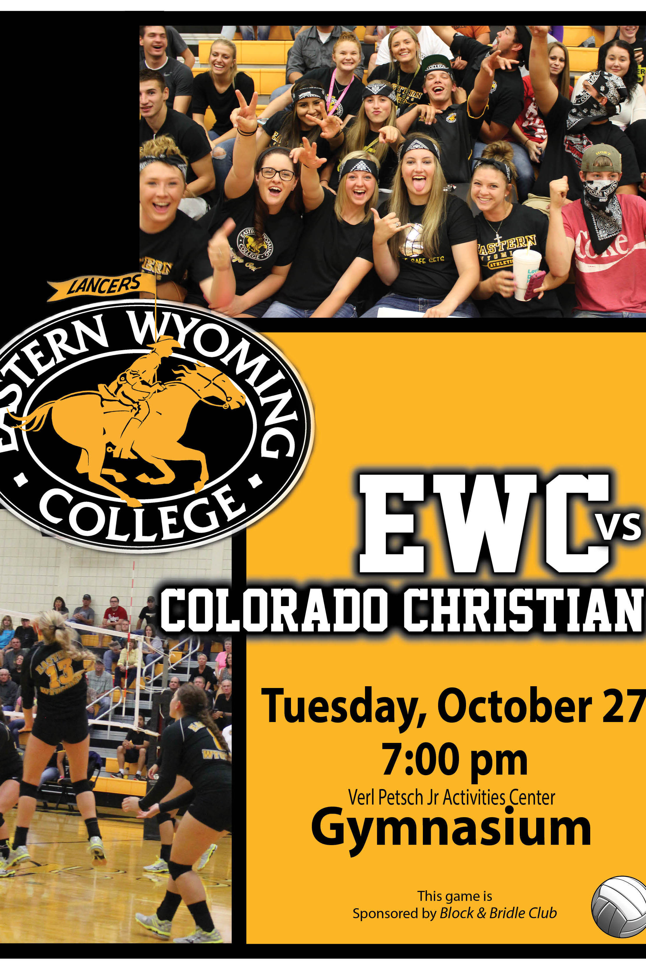 Women's Volleyball Game - EWC vs. Colorado Christian University-JV on ...