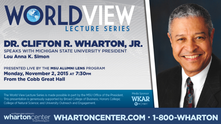 livestream cover image for Dr. Clifton R. Wharton, Jr. | World View Lecture Series