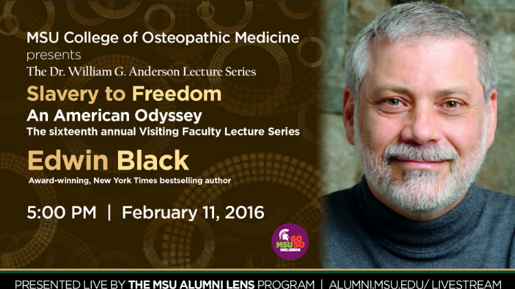 Livestream cover image for Edwin Black   Slavery to Freedom