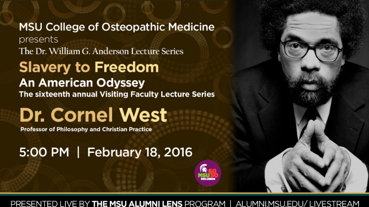 livestream cover image for Dr. Cornel West | Slavery to Freedom