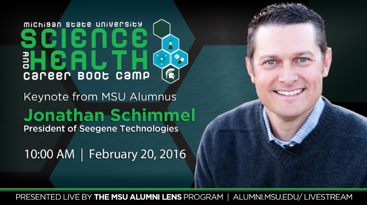livestream cover image for Jonathan Schimmel  |  Science and Heath Career Bootcamp