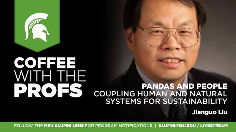 livestream cover image for Jianguo (Jack) Liu | Pandas and People: Coupling Human and Natural Systems for Sustainability