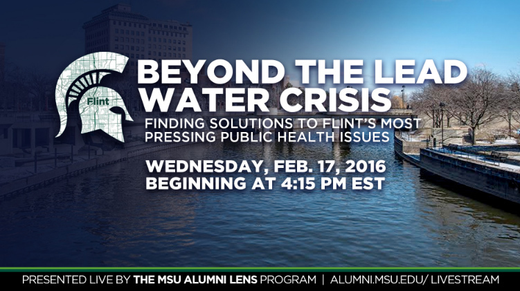 livestream cover image for Beyond the Lead Water Crisis: Finding Solutions to Flint's Most Pressing Public Health Issues