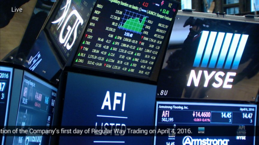 Armstrong Flooring rings the NYSE Closing Bell on Livestream
