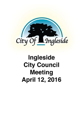 City Council Meeting April 12, 2016