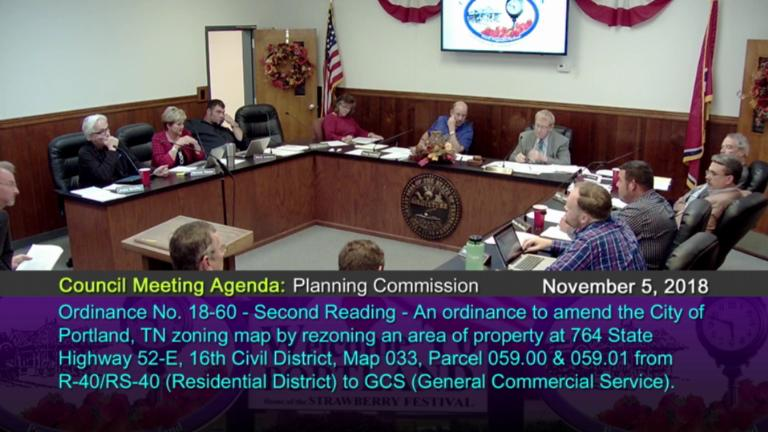 Portland Tennessee Map.City Of Portland Council Meetings On Livestream