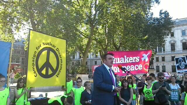 Westminster Trident vote demo