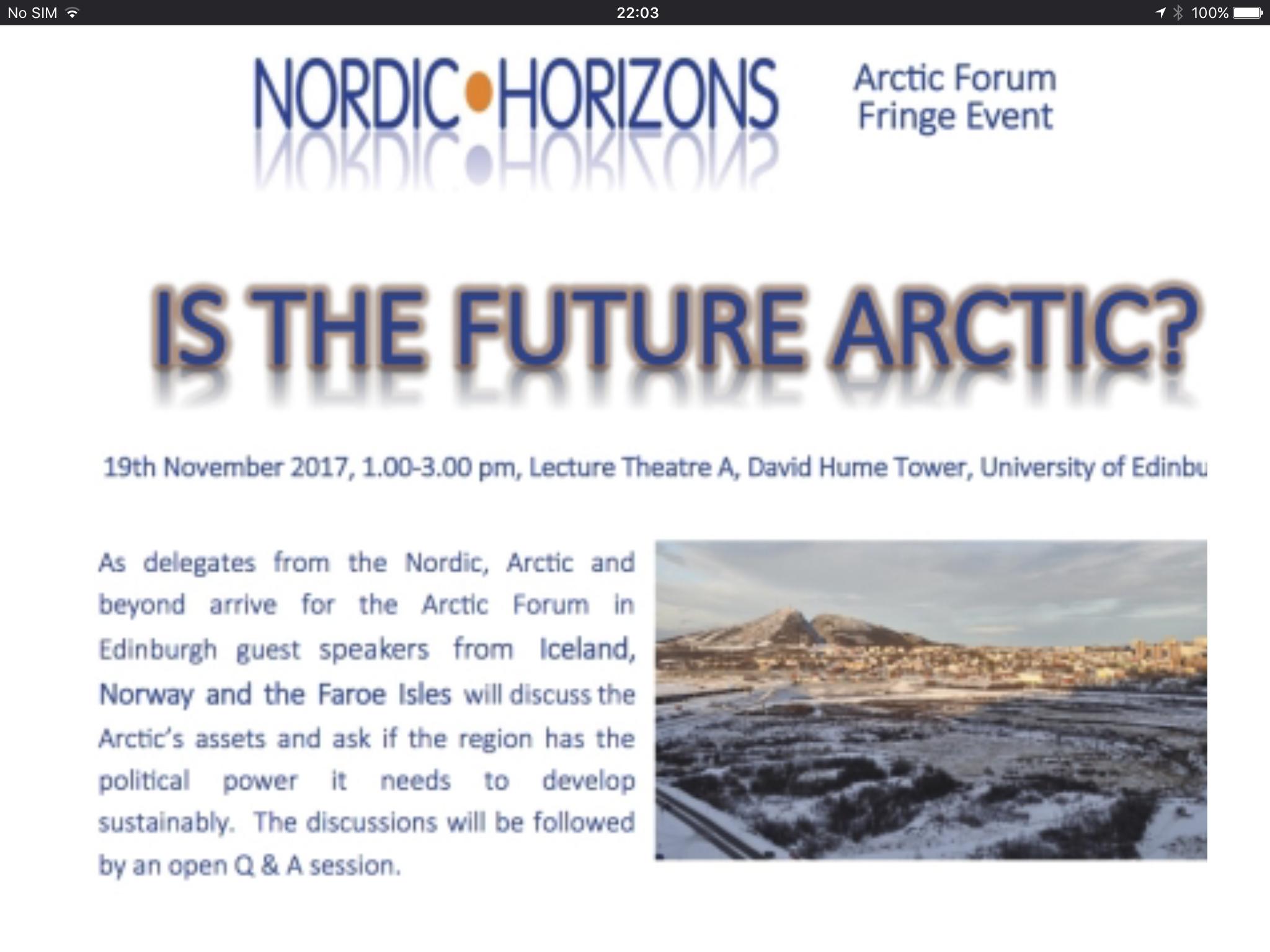 Is the Future Arctic? - Nordic Horizons
