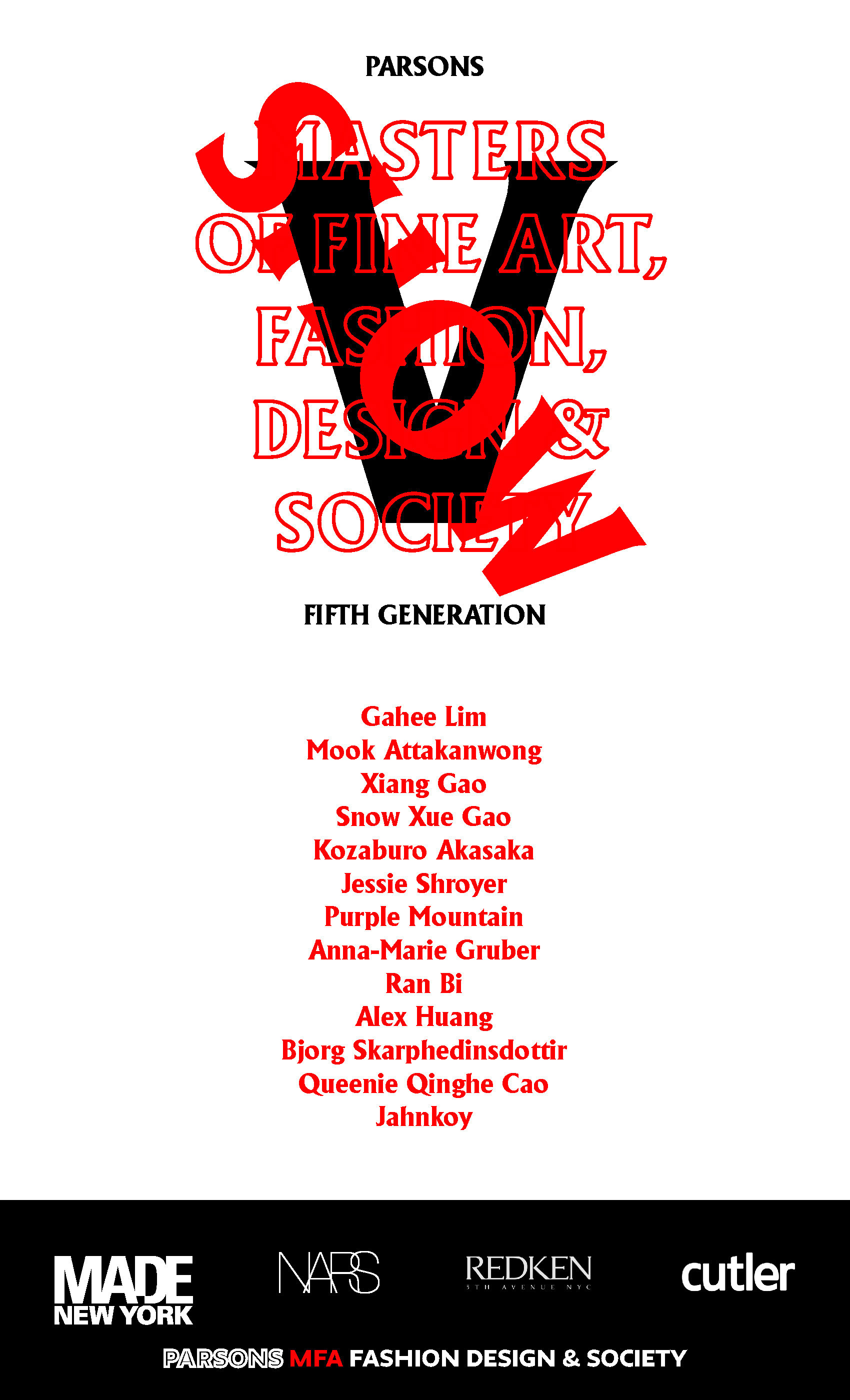 Parsons Mfa Fashion Design Society Presents Generation V On Livestream