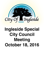 Special City Council Meeting - October 18, 2016