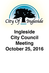 Ingleside City Council Meeting - October 25, 2016