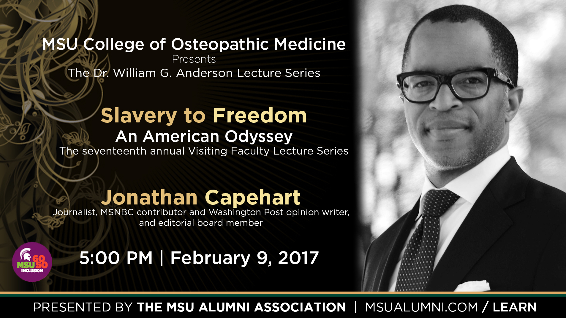 livestream cover image for Slavery to Freedom | Jonathan Capehart