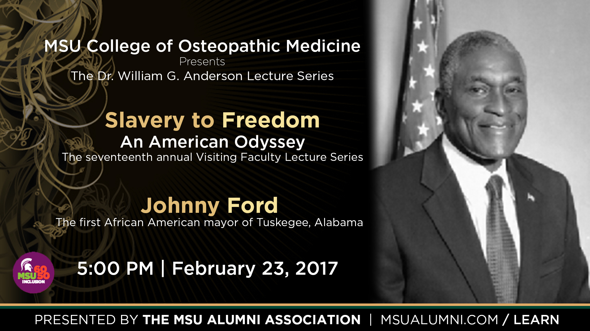 Livestream cover image for Slavery to Freedom   Johnny Ford