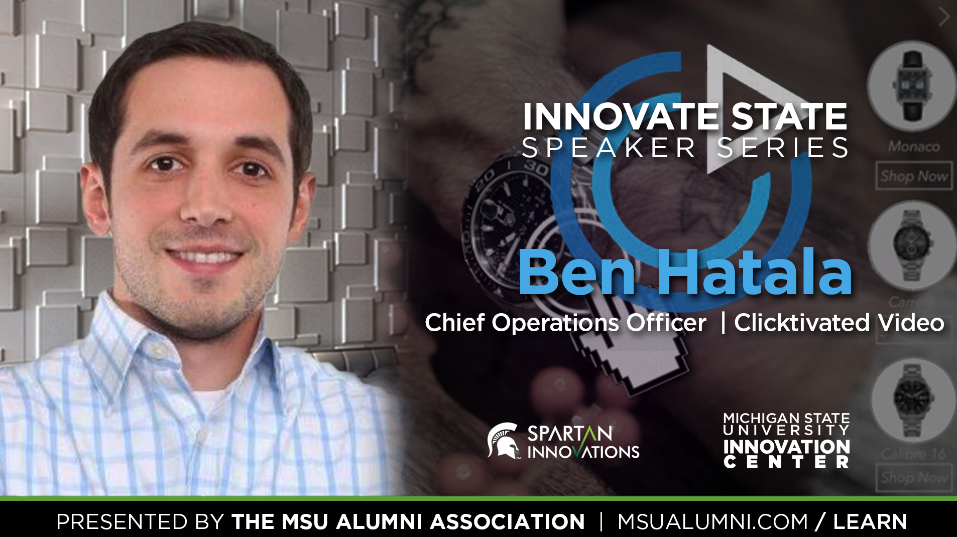 Livestream cover image for Innovate State   Ben Hatala