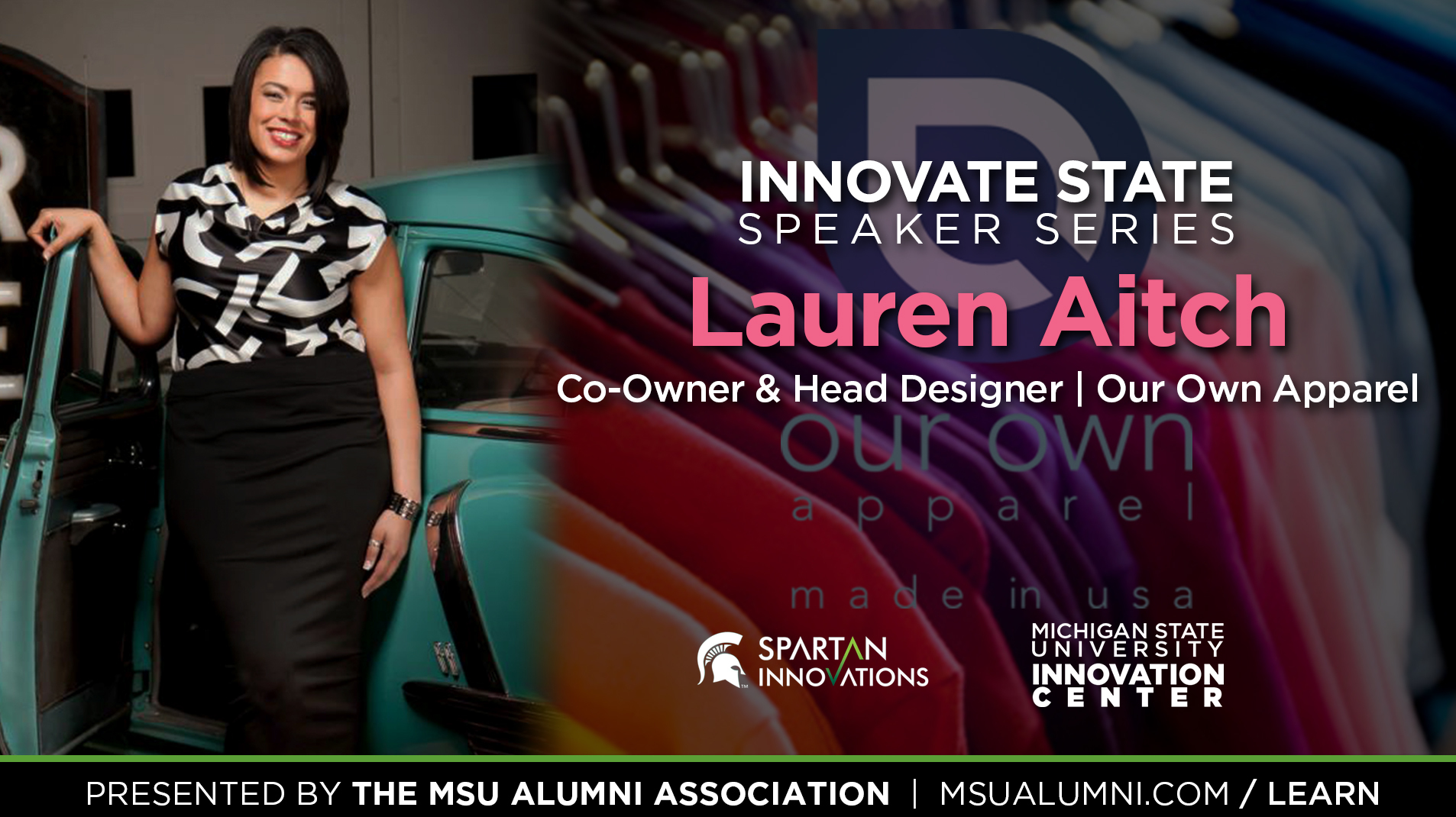 livestream cover image for Innovate State | Lauren Aitch