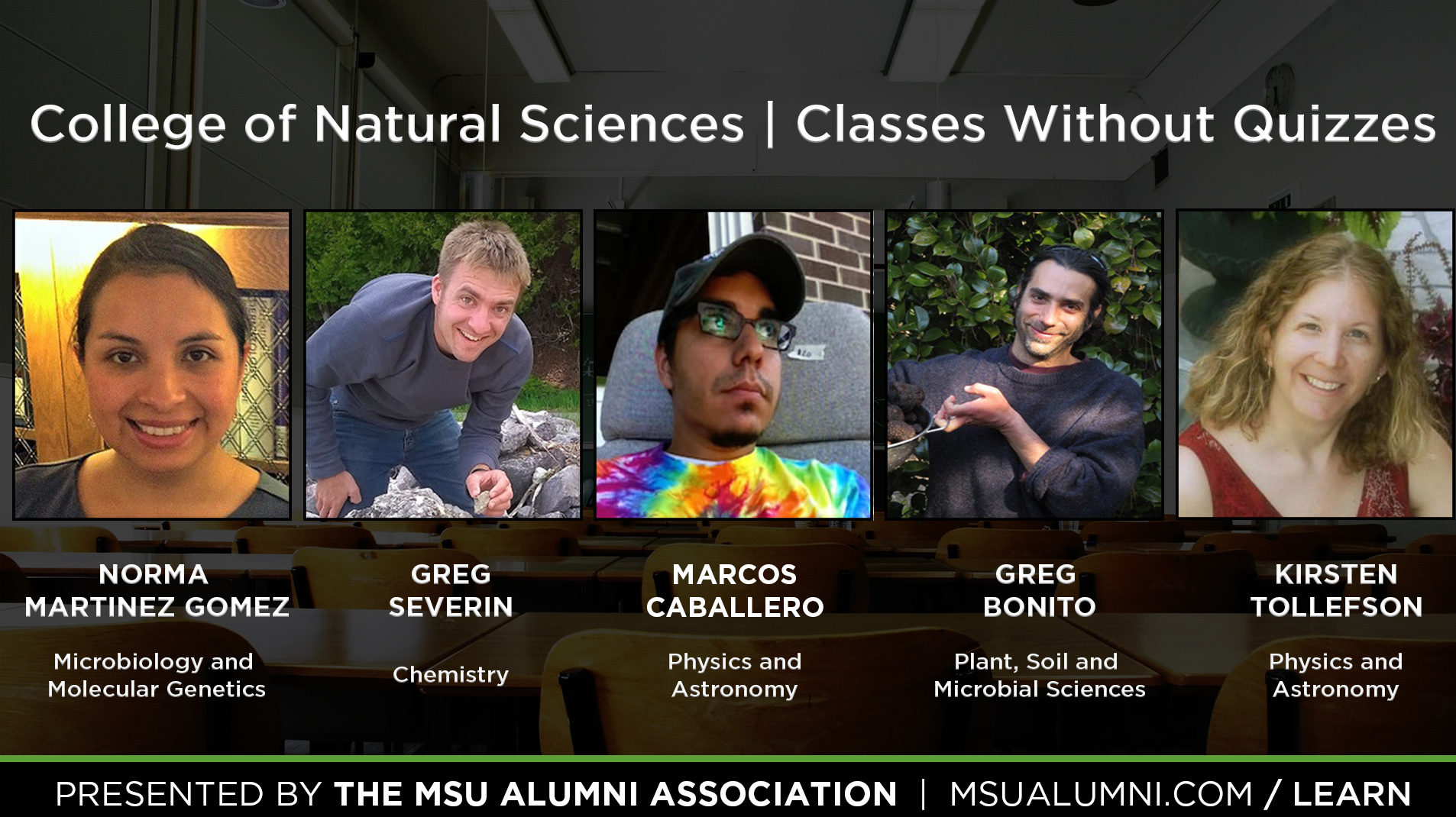 Livestream cover image for Classes Without Quizzes   Norma Martinez Gomez, Greg Severin, Marcos Caballero, Greg Bonito, & Kirsten Tollefson
