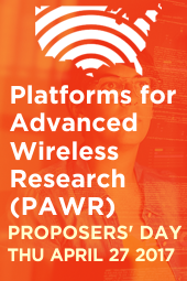 PAWR Proposers' Day - April 27 2017