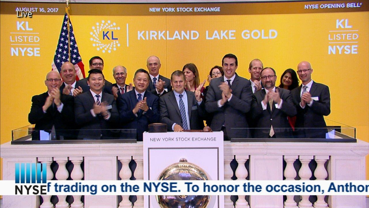 Kirkland Lake Gold Rings the NYSE Opening Bell on Livestream